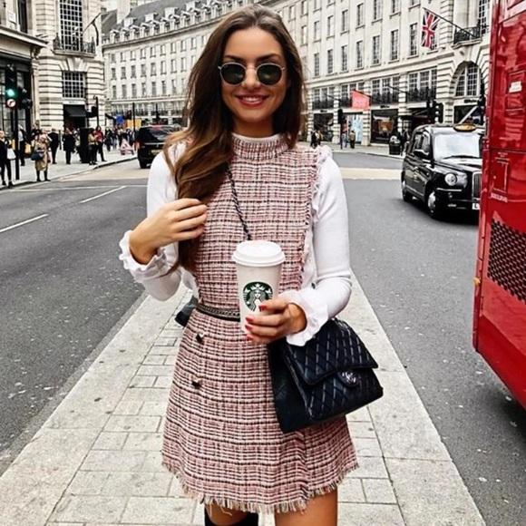 165478981008 Zara blogger fav tweed jumpsuit